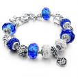 LongWay Crystal Charm Silver Bracelet (#1)