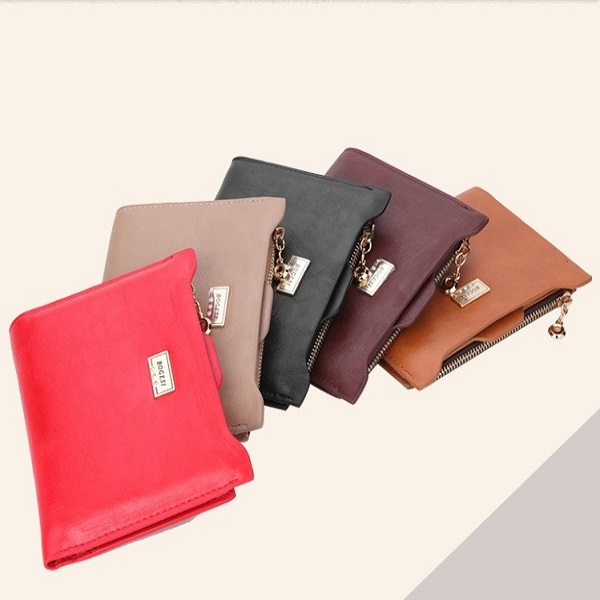 Women's Fashion Leather Zipper Wallet with Card Holder (5 Colors)