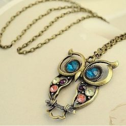 Vintage-owl-necklace