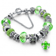 LongWay Crystal Charm Silver Bracelet (#13)