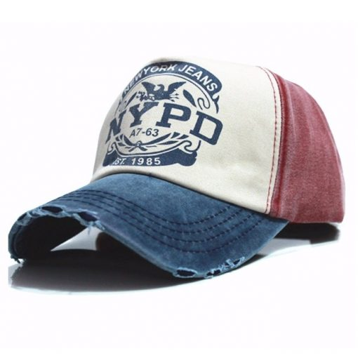 NYPD Baseball Caps (Dark Blue & Red)