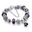LongWay Crystal Charm Silver Bracelet (#9)