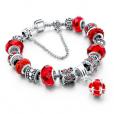 LongWay Crystal Charm Silver Bracelet (#14)