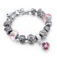 LongWay Crystal Charm Silver Bracelet (#17)
