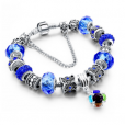 LongWay Crystal Charm Silver Bracelet (#12)