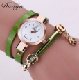 Duoya Fashion Women's Bracelet Quartz Watch (Green)