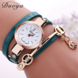 Duoya Fashion Women's Bracelet Quartz Watch (Lake Blue)
