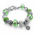 LongWay Crystal Charm Silver Bracelet (#2)
