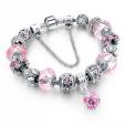 LongWay Crystal Charm Silver Bracelet (#8)