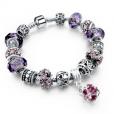 LongWay Crystal Charm Silver Bracelet (#16)