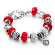 LongWay Crystal Charm Silver Bracelet (#4)