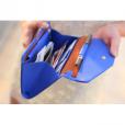 Casual Women's Leather Clutch Wallet (Blue)
