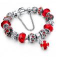 LongWay Crystal Charm Silver Bracelet (#10)
