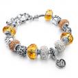 LongWay Crystal Charm Silver Bracelet (#5)