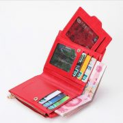 Women's Fashion Leather Zipper Wallet with Card Holder (All compartments)