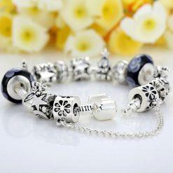 European Charm Bracelet with Heart For Women (Design #1 Back)