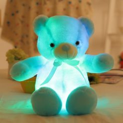 Blue Glowing Teddy Bear